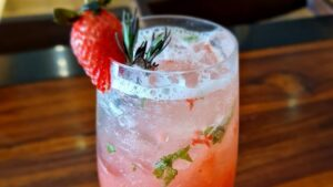 Strawberry Sparkling Mocktail